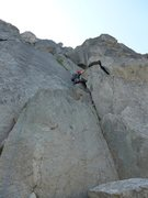 Rock Climbing Photo: P1 (note: there is additional scrambling required ...