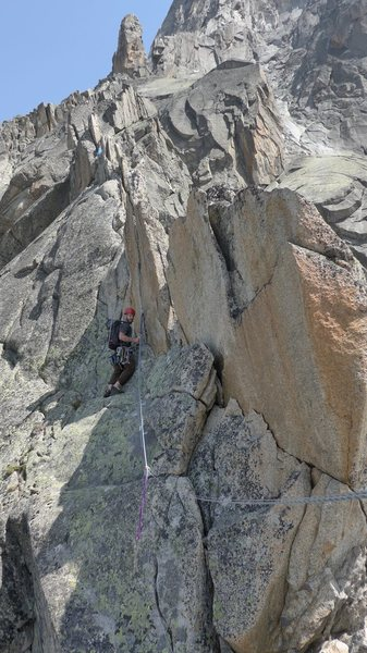 Rock Climbing Photo: The top of Lepidopteres, continuing along the last...