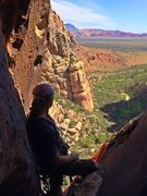 Rock Climbing Photo: Myself atop pitch one of Fractional Existence on t...