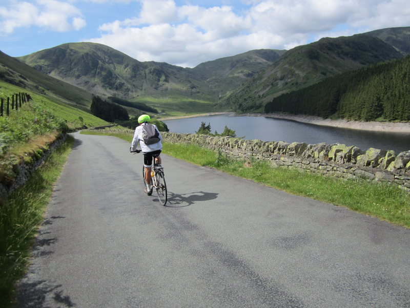 Cycling to Haweswater Cumbria
