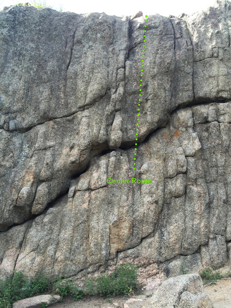 Center Route on The Dome Boulder.