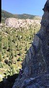 Rock Climbing Photo: Kat on Surrealistic Pillar