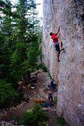 Rock Climbing Photo: Nate on Kielbasa
