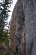Rock Climbing Photo: Martha climbs Tutu Man