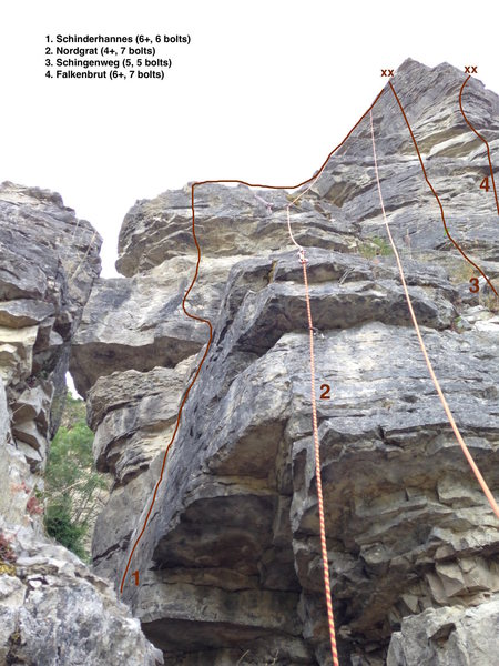 Rock Climbing Photo: #1 in photo.  6 bolts to bolted anchor.