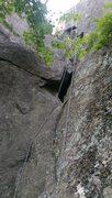 Rock Climbing Photo: Start of Natural History 5.7