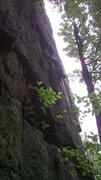 Rock Climbing Photo: humid day