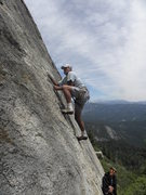 Rock Climbing Photo: Stink buggin' on the Lower Rider Slab.