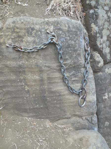 Rock Climbing Photo: Anchors at the top of Skinner's Butte.