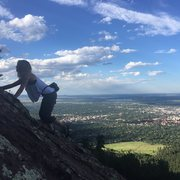 Rock Climbing Photo: Free soloing the Flatirons