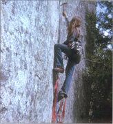 Rock Climbing Photo: Aid practice in 1973 on the Stigma.