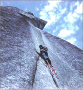 Rock Climbing Photo: 1973; Higher up on the Stigma.
