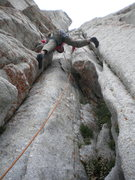 Rock Climbing Photo: Eating rock for breakfast on pitch II