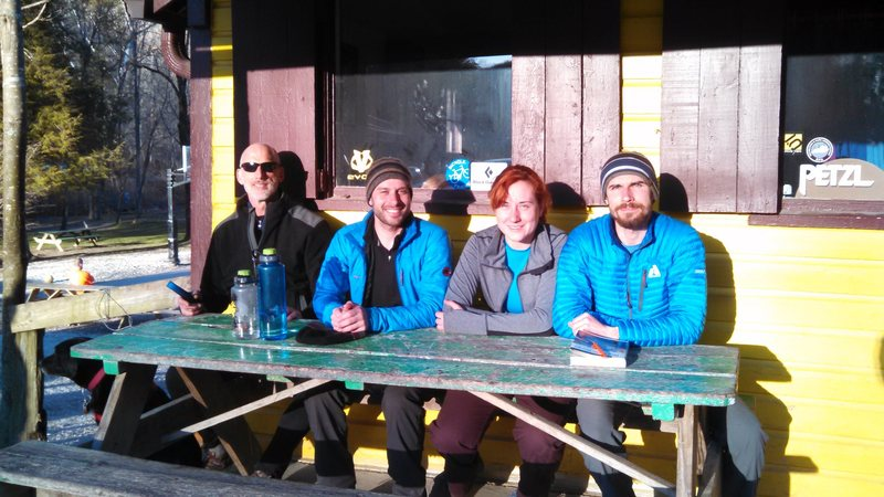 With the Crew At Miguel's, Red River Gorge.