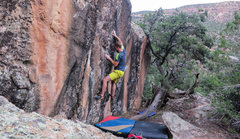 Rock Climbing Photo: Working the incredible two-finger pocket pinch on ...