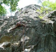 Rock Climbing Photo: B-b-buttress: Tristan on the start (hardest part o...