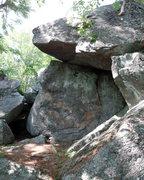Rock Climbing Photo: flintstone boulder