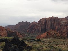 Snow Canyon State Park after a rain storm.