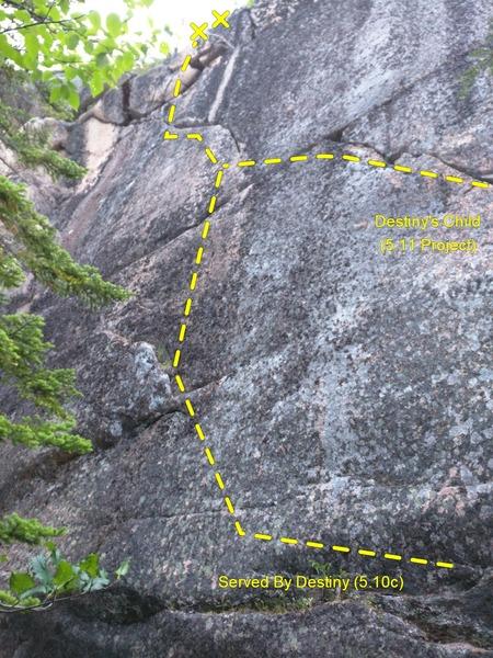 Rock Climbing Photo: Served By Destiny Topo
