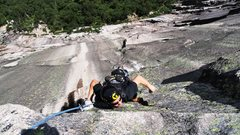 Rock Climbing Photo: Belaying Doug as he cranks....