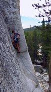 Rock Climbing Photo: Allison onsighting Battle Of The Bulge.  Jul 2015.