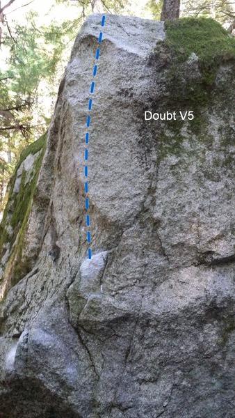 Rock Climbing Photo: Doubt V5