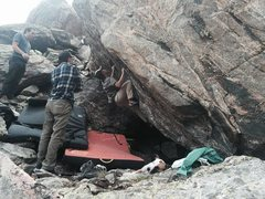 Rock Climbing Photo: Trevor on Captain Keating.