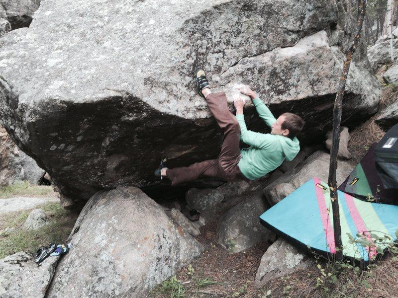 Rock Climbing Photo: John Andersen on this heel hooking goodness!