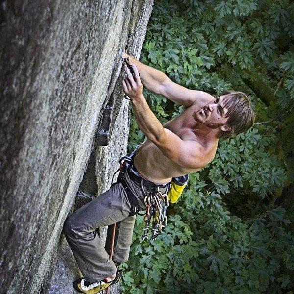 Rock Climbing Photo: Sending Even Steven 11b