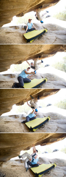 Rock Climbing Photo: Wesley shows how its done, on Meilee at Lizard's M...