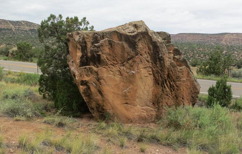 Snakeskin Stone's east face.