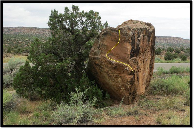 Rock Climbing Photo: Happy Hooker Tribute problem beta.