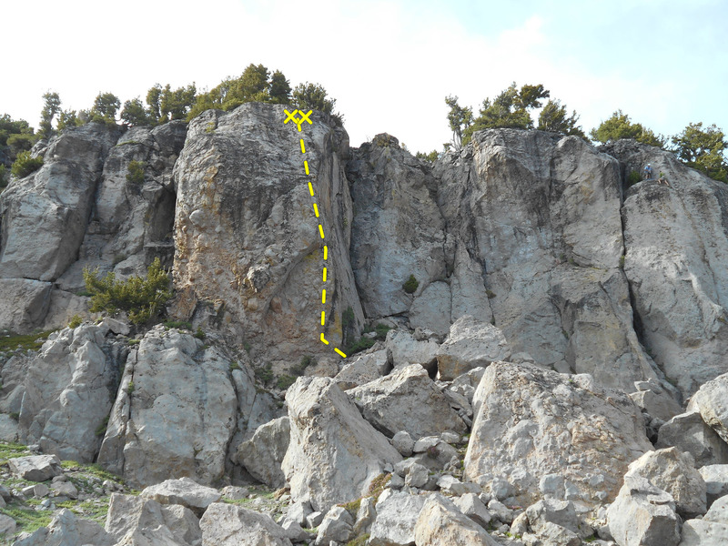 Rock Climbing Photo: Overhung route location/