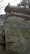 Rock Climbing Photo: The bottom piece is really just a directional to h...