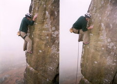 Rock Climbing Photo: B4XS E76b hen cloud