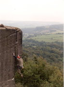 Rock Climbing Photo: Tom off Beau Geste - J woodward route!