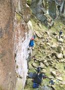 Rock Climbing Photo: Drifter at Millstone, E7 FA