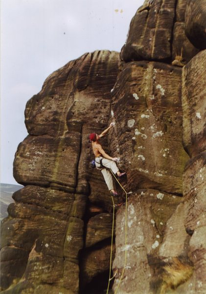 Rock Climbing Photo: master of reality , E66c, Gritstone tufa! Hen clou...