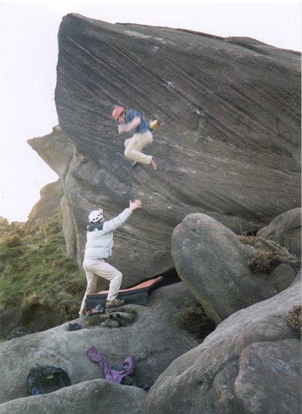 Rock Climbing Photo: Off Ou est le Spit, E5 roaches