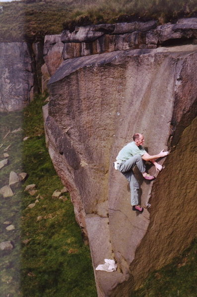 Rock Climbing Photo: Dr Donie at running hill pits on E2