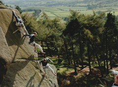 Rock Climbing Photo: Roaches - Barriers in Time E66b onsight attempt