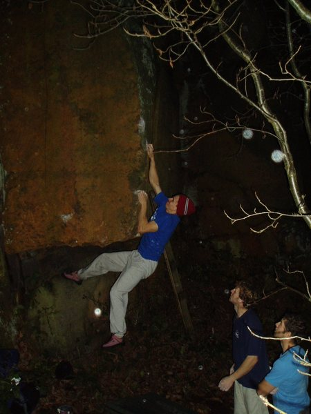 Rock Climbing Photo: night bouldering at rivelin - happy campus