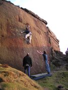 Rock Climbing Photo: Roller wall - Burbage S - how nails!!