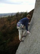 Rock Climbing Photo: Track of the cat _ Roaches E5