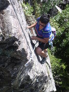 Rock Climbing Photo: Angie following.