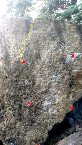 Rock Climbing Photo: A little beta
