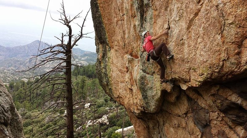 Rock Climbing Photo: Fighting past the crimps and into the side pulls. ...