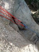 Rock Climbing Photo: Making one rope two independent lines.