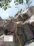 Rock Climbing Photo: A map of a few of the climbs also points out to go...