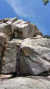 Rock Climbing Photo: InoYormos: PURPLE LINE SHOWS THE ROUTE